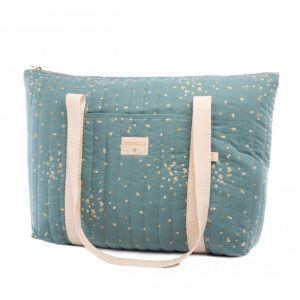 nobodinoz-paris-gold-confetti-magic-green-maternity-bag-lecrazykids